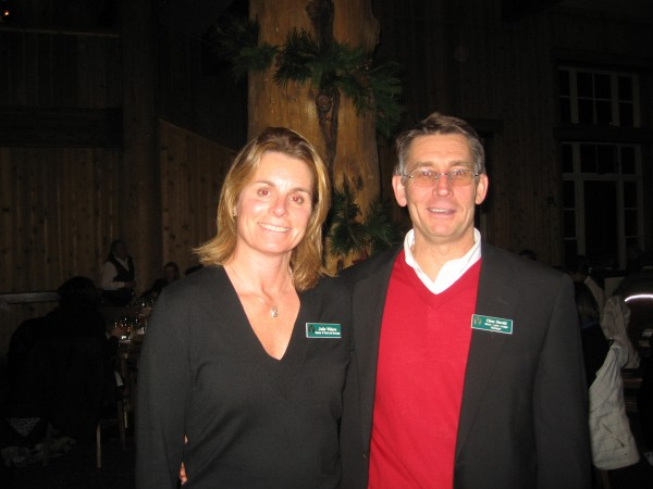 Julie Wilson, Director of Food & Beverage and Clint Strohl, Manager for Silver Lake Lodge and Empire Canyon Lodge take a moment to pose for the camera
