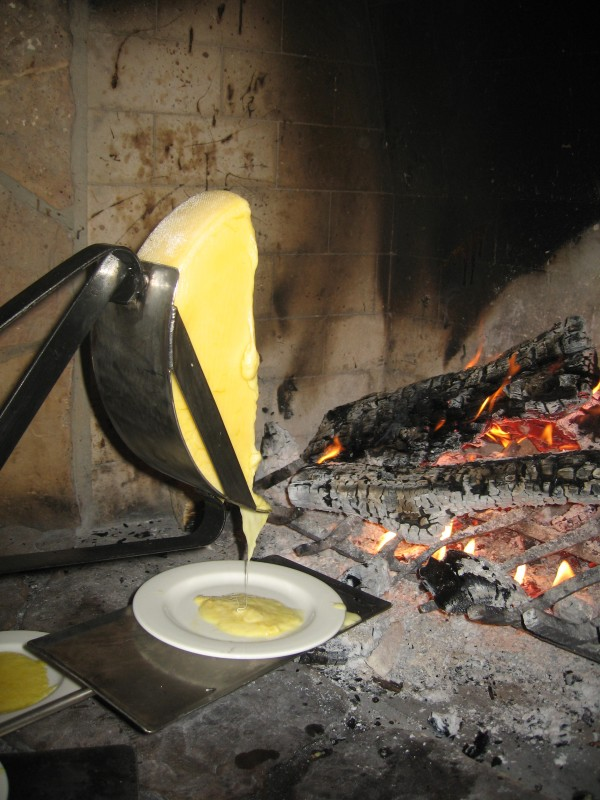 Your first course at Fireside includes cheese raclette
