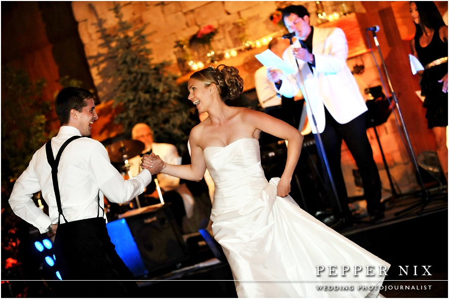 If you choreograph a first dance, be sure to use your showmanship.