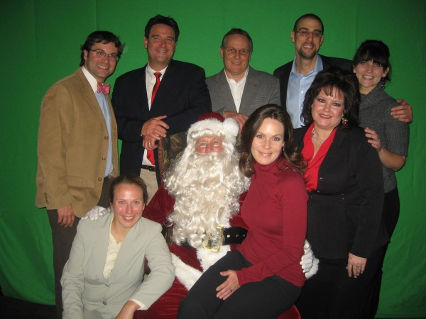 The Sales Team took time to pose with Santa