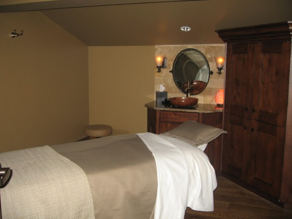 The treatment rooms are decorated just as beautiful as the lodge itself