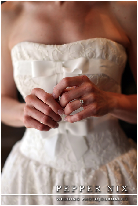 The details of Emily's gown are just perfect for the occasion.
