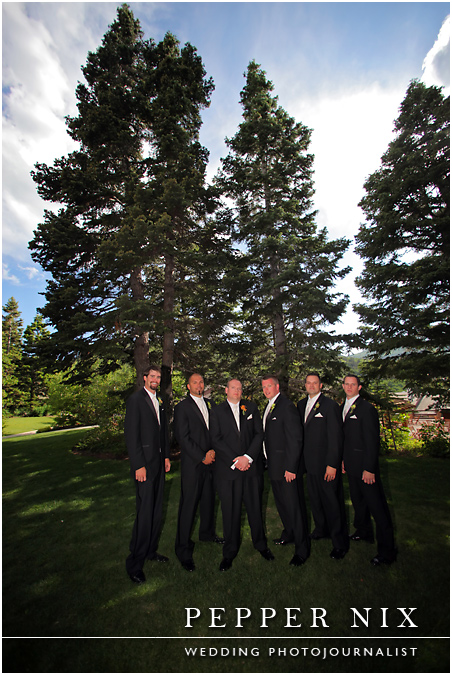 Okay boys, time to get serious!  Your tuxedos from White Couture look great!
