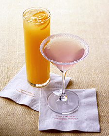 The Golden Groom and the Blushing Bride Signature Cocktails  make for a great conversation starter!