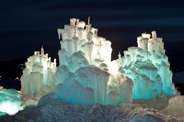 Ice Castles Glow at Night