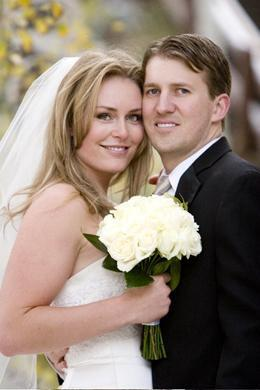 Lindsey and Thomas Vonn on their Wedding Day!