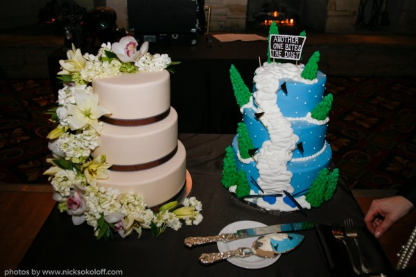 "The bride surprised the groom with a ""groom's cake"" of a Deer Valley ski run"