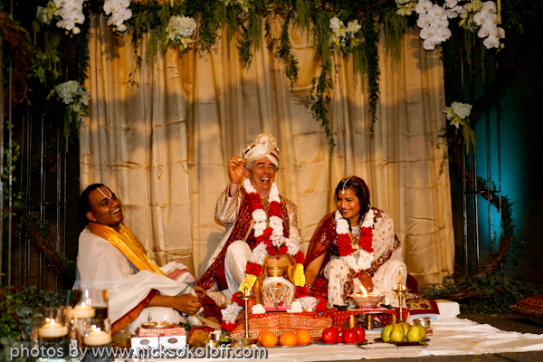 The 2 hour traditional Hindu ceremony was beautiful and relaxing