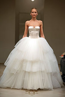 Corsette bodice and full skirt by Reem Acra