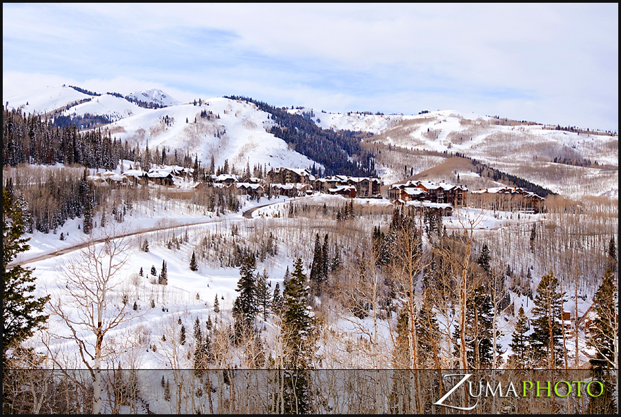 The view of Deer Valley from the Stein Eriksen Lodge was a goregous one!